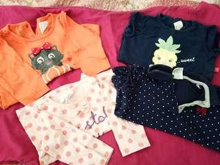 5 helai Baju Baby Girl Miki Kids