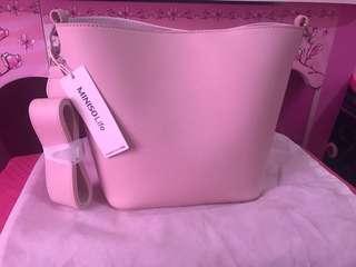 Tas Miniso 2 warna depan belakang pink-putih