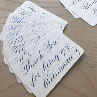 Gift Tags for bridesmaids and wedding