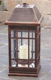 Brand New San Rafael II Solar Bronze Lantern