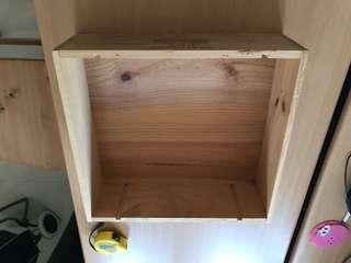 Wooden wine crate open