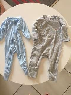 Newborn Bonds wondersuit and bamboo suit