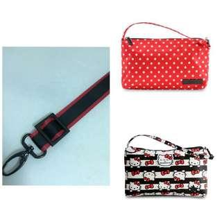 0.75 inch dual color black on red seat belt strap for Jujube