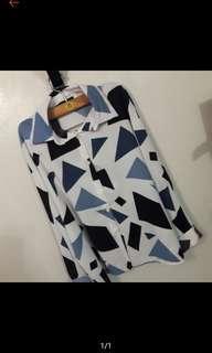 [💞全館買二送一]秋冬 滿版 幾何 襯衫