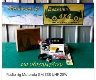 Radio Rig Motorola GM 338 UHF 25W