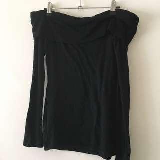 Kookai off-shoulder top - 100% Merino Wool