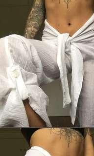 Beautiful cheesecloth linen beach pants