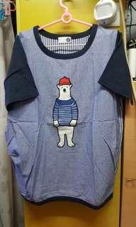851 KOREA米奇藍色衛衣,3碼 $10