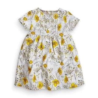 🚚 Instock - pintucks floral dress, baby infant toddler girl