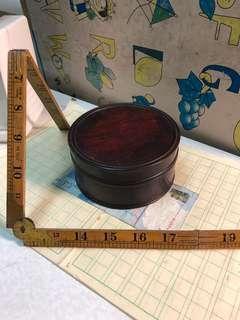紫檀木圓合113X55mm重260克