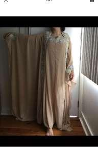 Mother of the bride beaded cape dress one size