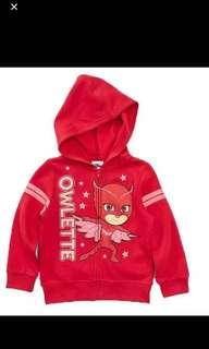 PO pj mask owlette jackets brand new size for 3-5T