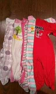 9-12 months cotton sleepers