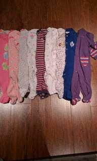 6-9 months cotton sleepers