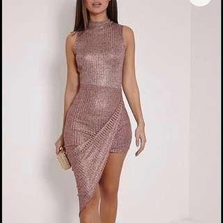 ROSE GOLD ASSYMETRICAL DRESS