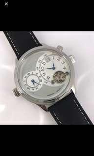 Elysee Men's dual time leather watch