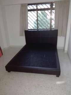 Queen bedframe n mattress