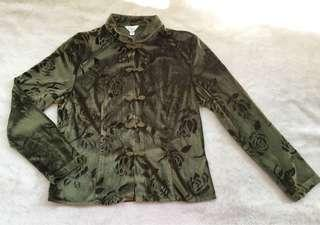 Chinese Style Long-sleeved Blouse for Women (Size M)