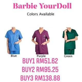Men Women Medical Hospital Nursing Clinic Scrub Set Uniform Unisex Tops & Pants