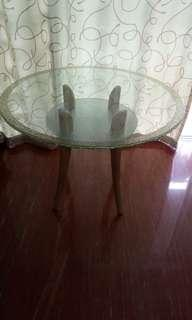 House moving - glass top designer dining table