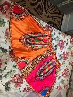 Rasta style mini skirt