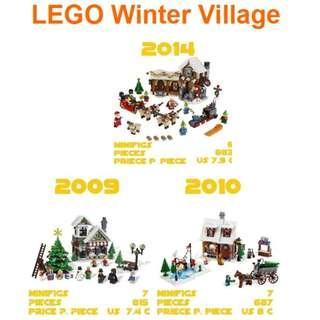 LEGO Winter Village sets 10199 10216 10245
