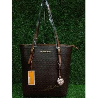 Authentic Quality MK Bag Michael Kors Signature Logo Shoulder Bag Hobo Bag Tote Bag MK Long Handle Bag Hand Bag Women's Bag
