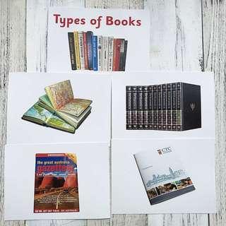 🚚 Flashcards Types of Books (HEGURU, SHICHIDA, RIGHT BRAIN TRAINING) BRAND NEW Flashcards for right brain training