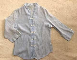 Long-sleeved Chinese Blouse for Women (Size M)