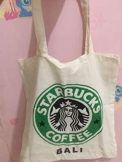 Totebag starbucks coffee bali
