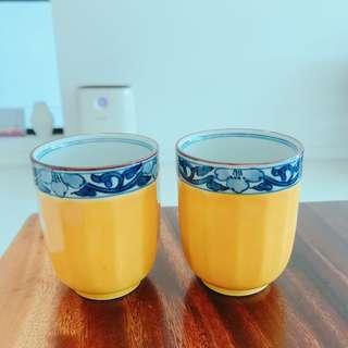 Japanese tea cups pair