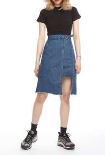 🚚 假兩件個性丹寧鬆緊牛仔短裙