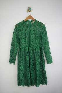 Green Flower Dress Party