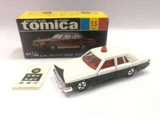 Tomica黑盒 no. 13警車 crown civic typer