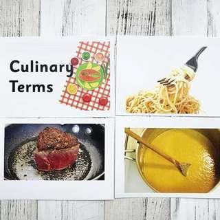 🚚 Flashcards Culinary Terms (HEGURU, SHICHIDA, RIGHT BRAIN TRAINING) BRAND NEW Flashcards for right brain training
