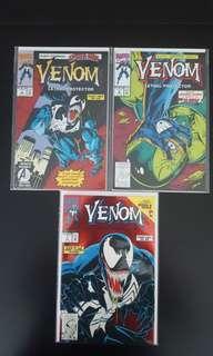 Venom : Lethal Protector #1,#2,#3 (1993 1st Series) Set Of 3, Very 1ST Venom Mini-Series, Based On 2018 Venom Blockbuster Movie! FIRE-🔥🔥🔥 Collectible Set!