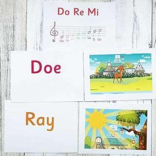 🚚 Flashcards Do Re Mi (HEGURU, SHICHIDA, RIGHT BRAIN TRAINING) BRAND NEW Flashcards for right brain training