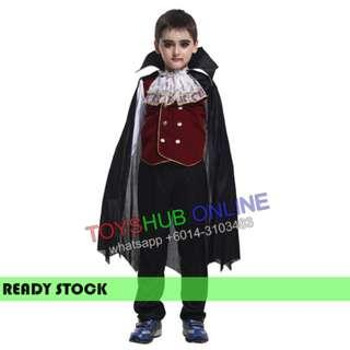 Noble Vampire Kids Children Costume Outfit Boys Halloween Cosplay 4-8y