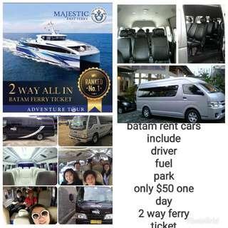 Batam rent cars dan ferry ticket