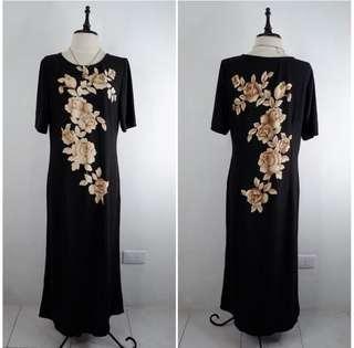 Maxi Dress Black Floral