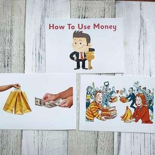 🚚 Flashcards How to Use Money (HEGURU, SHICHIDA, RIGHT BRAIN TRAINING) BRAND NEW Flashcards for right brain training