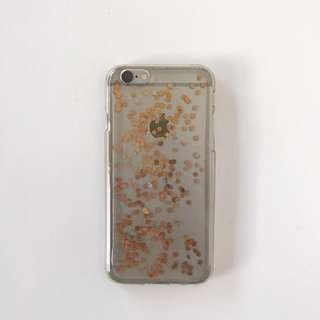iPhone 6/6s Clear Glitter Phone Case
