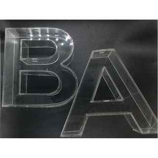 Clear Acrylic letter standee