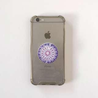iPhone 6/6s Clear Shockproof Phone Case with Pop Socket