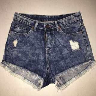 Bench High Waist Denim Shorts