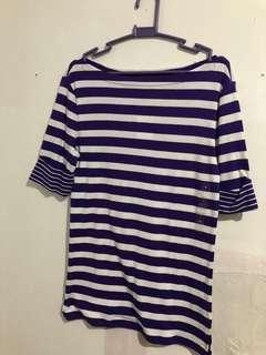 Purple stripes top - BRAND NEW