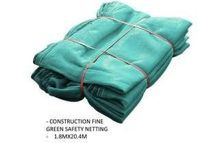 Construction Fine Green Safety Netting 1.8X20.4M