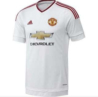 Man united away jersey(red and white) AUTHENTIC