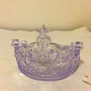 淡紫色王冠膠水晶👑