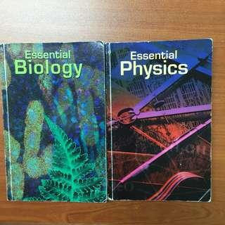 Physic and Biology Reference Books